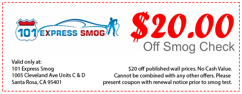 20 dollars off smog check coupon - on advertised wall price